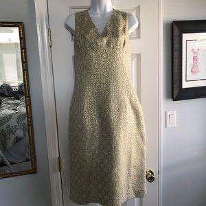 Michael Kors Gold Print Dress